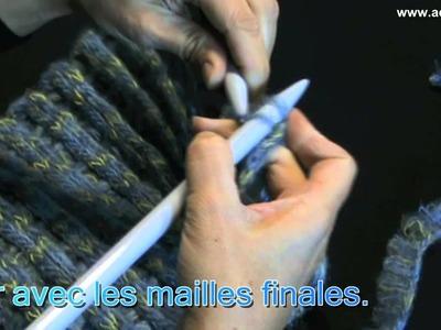 """Wally fil à tricoter Adriafil - Col réalisé avec la téchnique de """"Pick-Up"""""""
