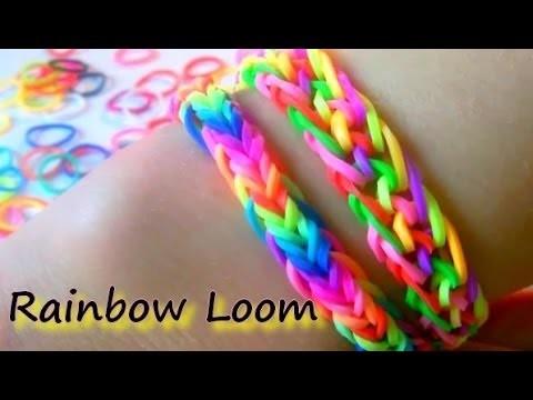 tutoriel bracelet lastique facile et rapide rainbow. Black Bedroom Furniture Sets. Home Design Ideas