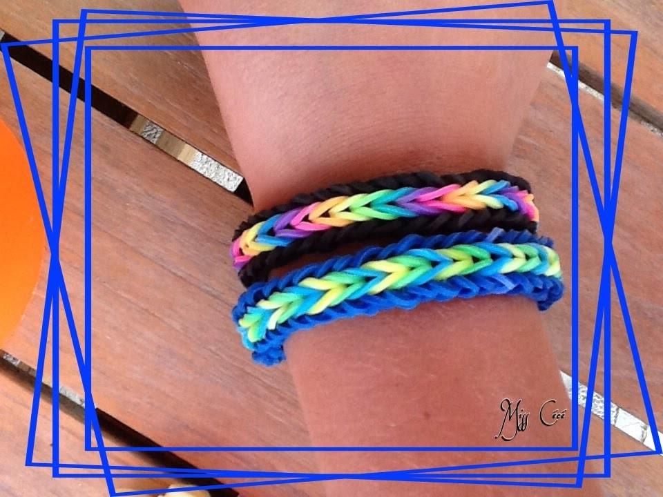 """Bracelet Rainbow Loom """"Brésilien"""" (Tuto français)"""