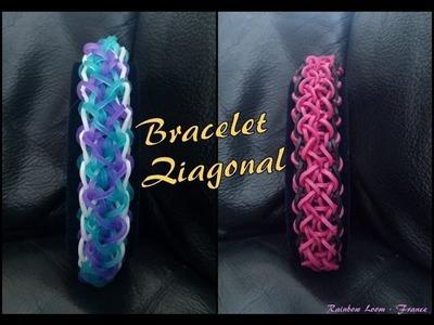 Bracelet Ziagonal Rainbow Loom® Tutoriel Français