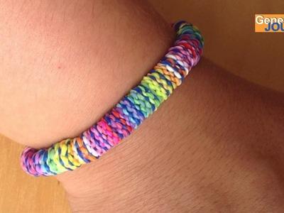 Créer un bracelet en élastiques hexafish inversé Rainbow Loom Monster Tail