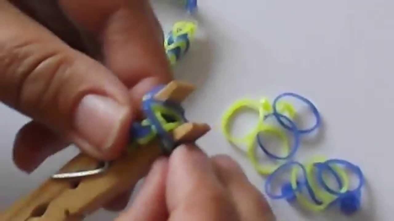 Fabriquez un bracelet Rainbow Loom à l'aide d'une pince à linge