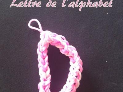Lettre D Rainbow loom® Tutoriel Français (Niveau Débutant)