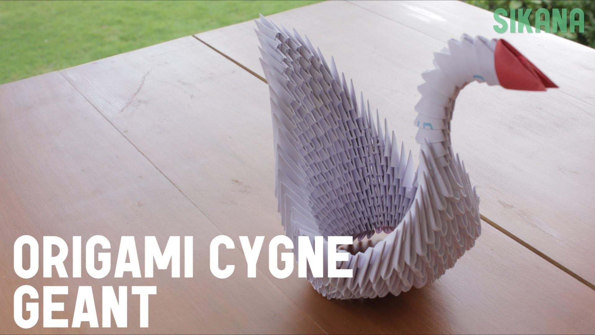 Origami : Cygne géant en papier - HD