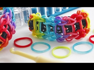 TUTO : bracelet élastique en échelle arc-en-ciel - Rainbow Loom (en Français)