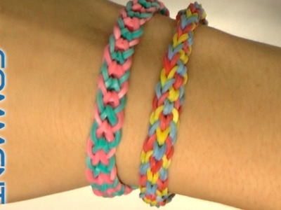 Tutoriel bracelet Rainbow Loom queue de poisson inversé (fishtail)