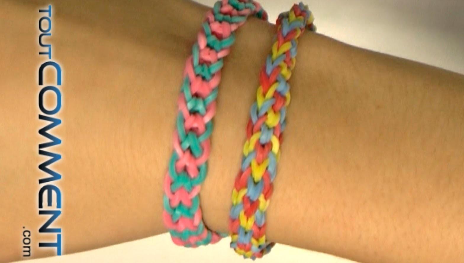 Tutoriel bracelet Rainbow Loom queue de poisson inversé (fishtail)