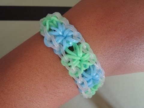 Comment faire un bracelet en forme de fleur.
