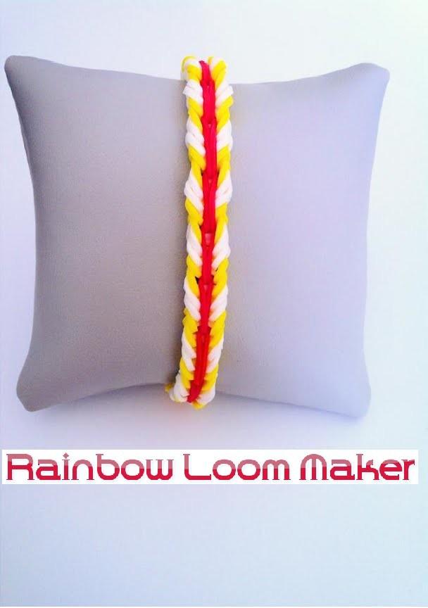 EXCLU.NEW !  TUTO FR.EN ! Rainbow loom bracelet Fishtail chained. enchaîné