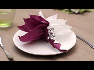 Pliage de serviette en papier- Le palmier - Labelleadresse.com