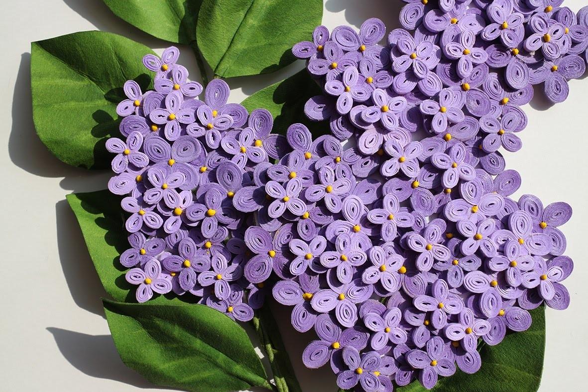 Quilled lilac - Lilas en papier - Papel lila