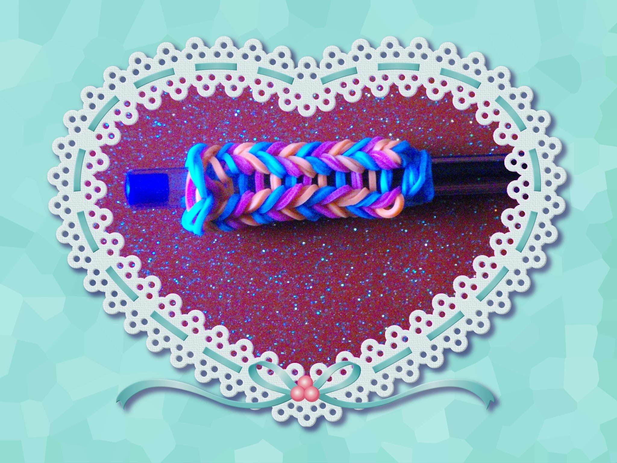 Rainbow loom - crayons-crochet-fishtail déco-en francais