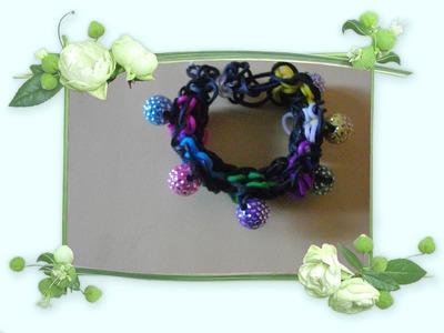 Rainbow loom -bracelet- perles - fleurs en francais-french