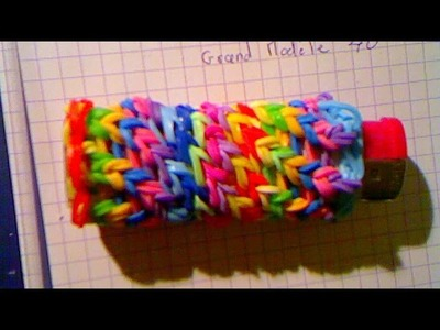 Rainbow loom étui a briquet ( loom band )