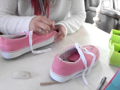 DIY - Relooker ses chaussures en toile (cloutée + dessinée)