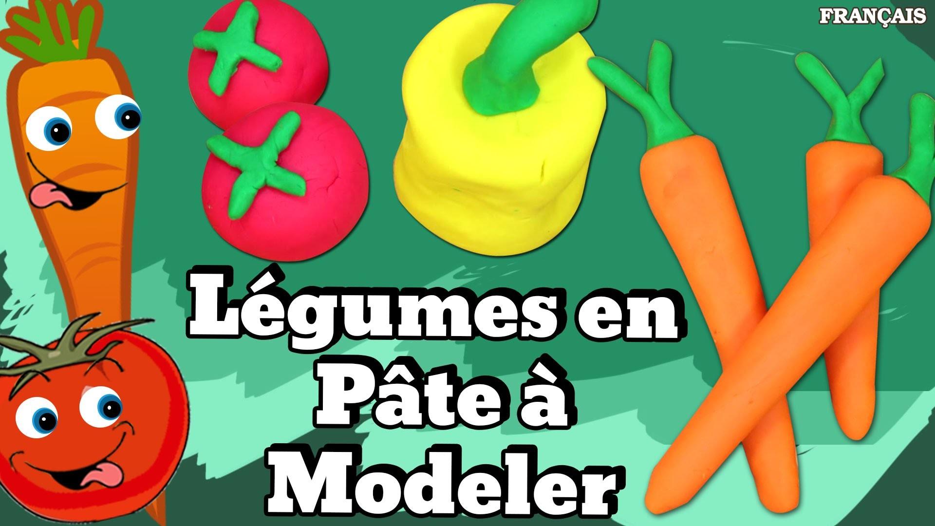 Francais Facile: How To Play Doh Vegetables in French | Légumes en Pâte à Modeler en Français