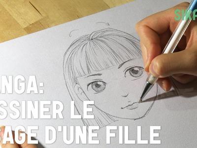 Manga : Dessiner un visage de fille - HD
