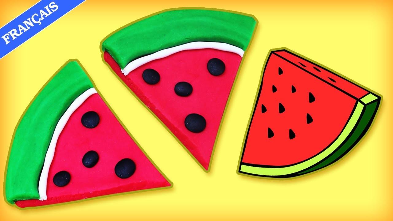 Tranches De Pastèque en Pâte à Modeler   Learn how to make Play Doh Watermelon Slice