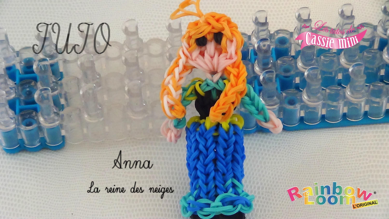 [ tuto ] Anna de la reine des neiges en élastique Rainbow Loom
