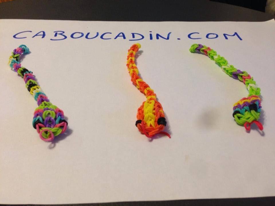 Tuto serpent rainbow loom - français