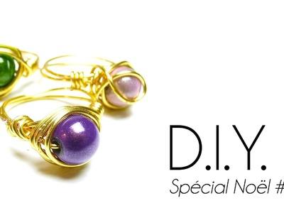 """Tutoriel - DIY Special Noël #5 : comment faire une bague en fil de laiton """"Idée Cadeau"""" Wire Ring"""