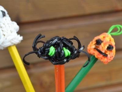 Araignée en élastiques - Halloween - figurine marionnette - Spider rainbow loom