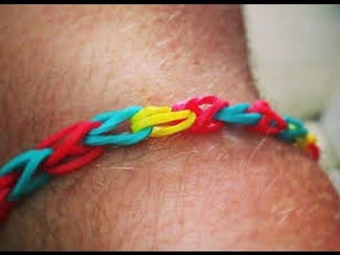 Bracelet simple tresse avec des élastique rainbow loom