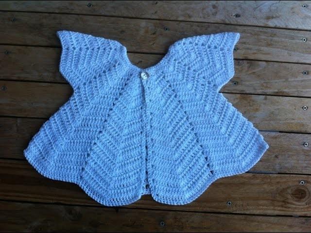 Brassière papillon bébé au crochet 2. chaquetita bebe mariposa a crochet 2