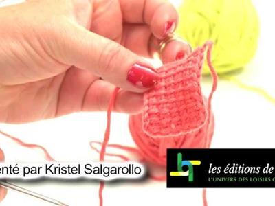 Crochet tunisien : les finitions - L'atelier Edisaxe