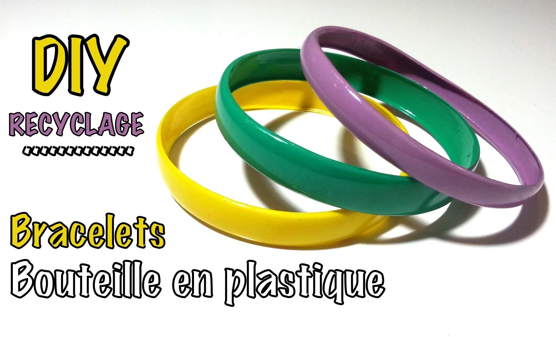 DIY recyclage bracelets avec bouteille plastique