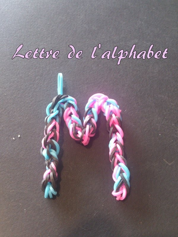 Lettre M Rainbow loom® Tutoriel Français (Niveau Débutant)