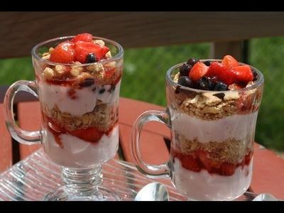 Recette Parfait aux Fruits & Yaourt - Fresh Fruit & Yogurt Parfait Recipe - Recettes Maroc