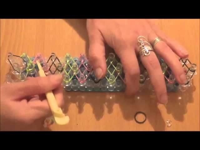 """Tuto: Bracelet en élastiques """"diamant"""""""