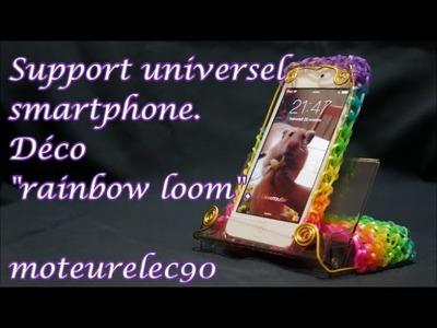 Tuto support universel smartphone iPhone 6 déco élastiques rainbow loom d'une cassette audio
