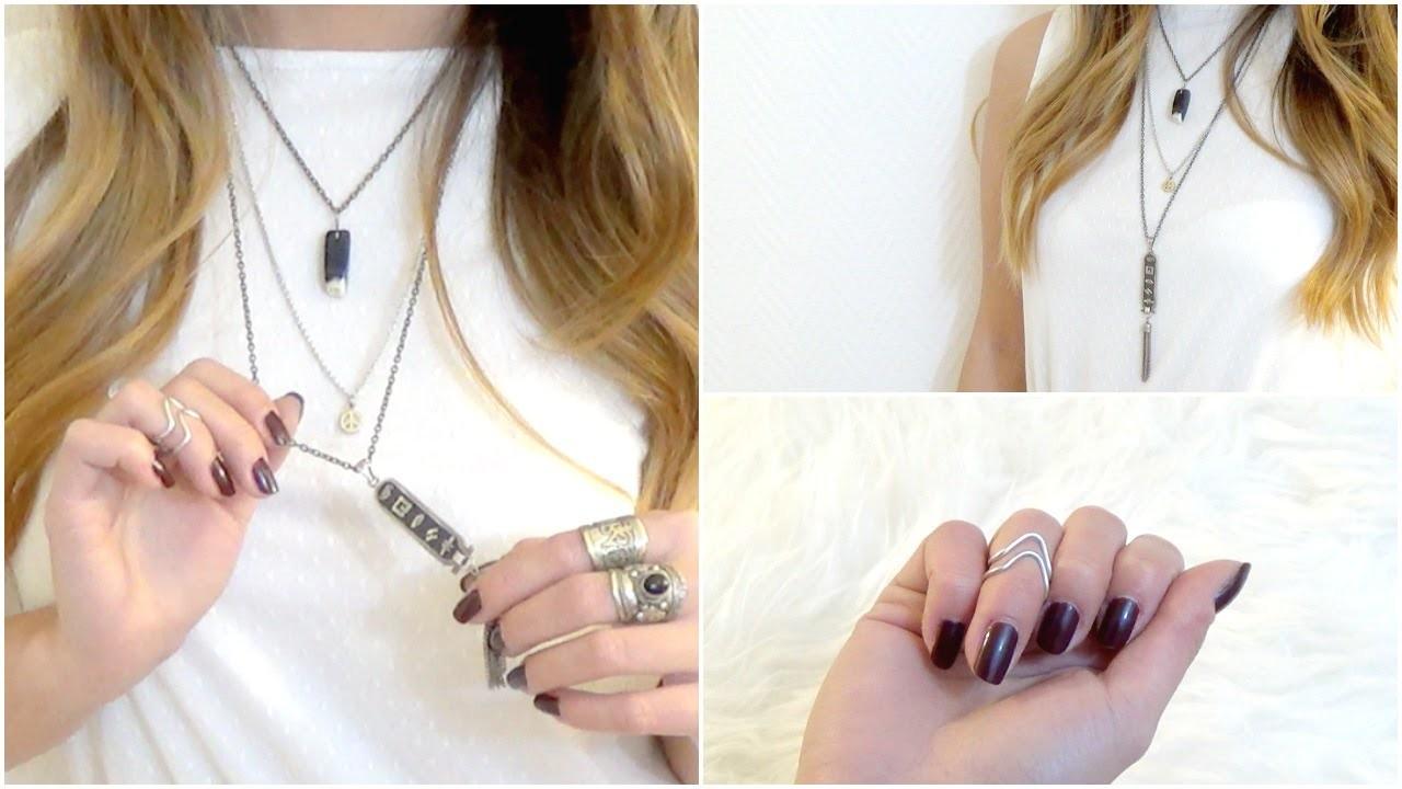 DIY│Collier & Bague (Midi Rings) ▵ Alyssia