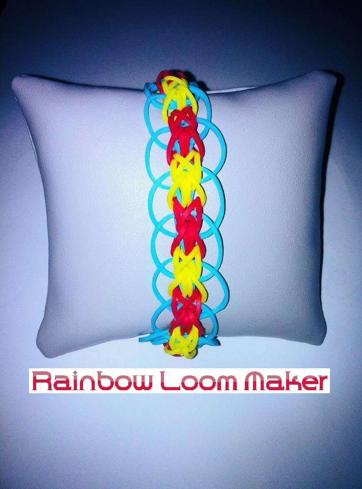 "TUTO FR.EN ! Rainbow loom bracelet ""circle"" model. modèle ""cercle"""