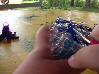 Tutoriel pieuvre en élastique Rainbow Loom. Figurine de niveau moyen. Français