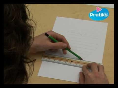 Comment faire un calligramme en forme de coeur