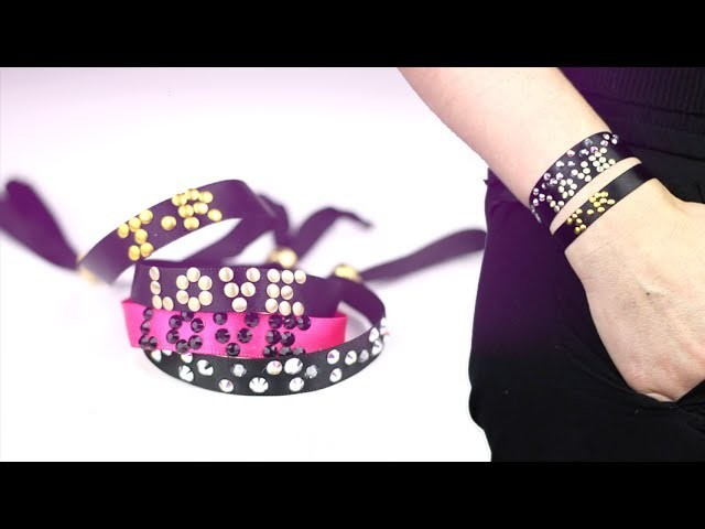 DIY st-valentin : Bracelet Messages en strass Swarovski ou pas - Swarovski bracelet (english subs)