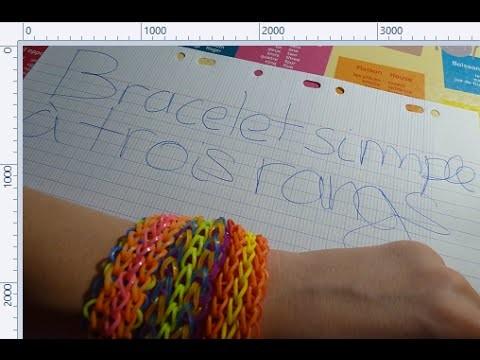 Rainbow Loom : Bracelet Simple à Trois Rangs