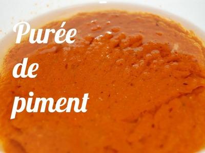 Recette purée de piment fort
