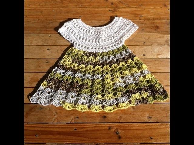 Robe crochet bebe 1.2. baby dress crochet 1.2