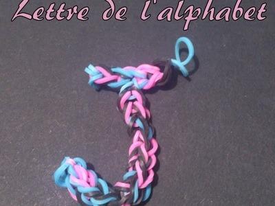 Lettre J Rainbow loom® Tutoriel Français (Niveau Débutant)