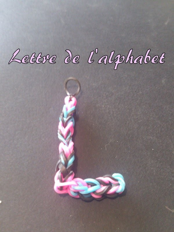 Lettre L Rainbow loom® Tutoriel Français (Niveau Débutant)