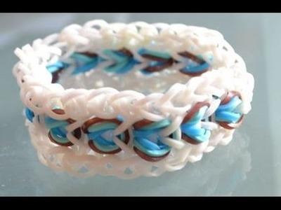 """Bracelet élastique triple porte-bonheur """"Les yeux magiques"""" - rainbow loom magic bracelet DIY"""