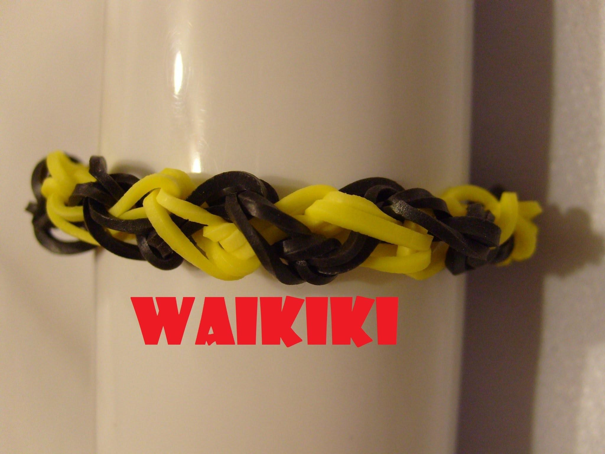Rainbow loom bands Bracelet elastique Waikiki tutoriel francais
