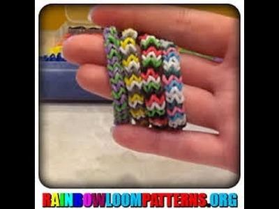 Bracelet rainbow loom façon chevron