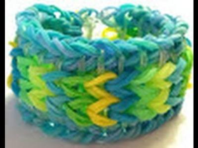 Bracelet rainbow loom réversible facile en francçais