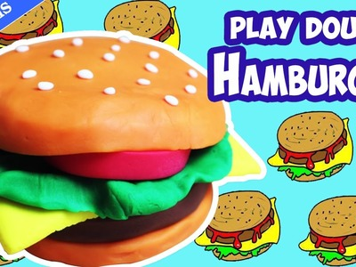 Comment Faire Hamburger en pâte à modeler en français | How to Make a Playdoh Burger | DIY