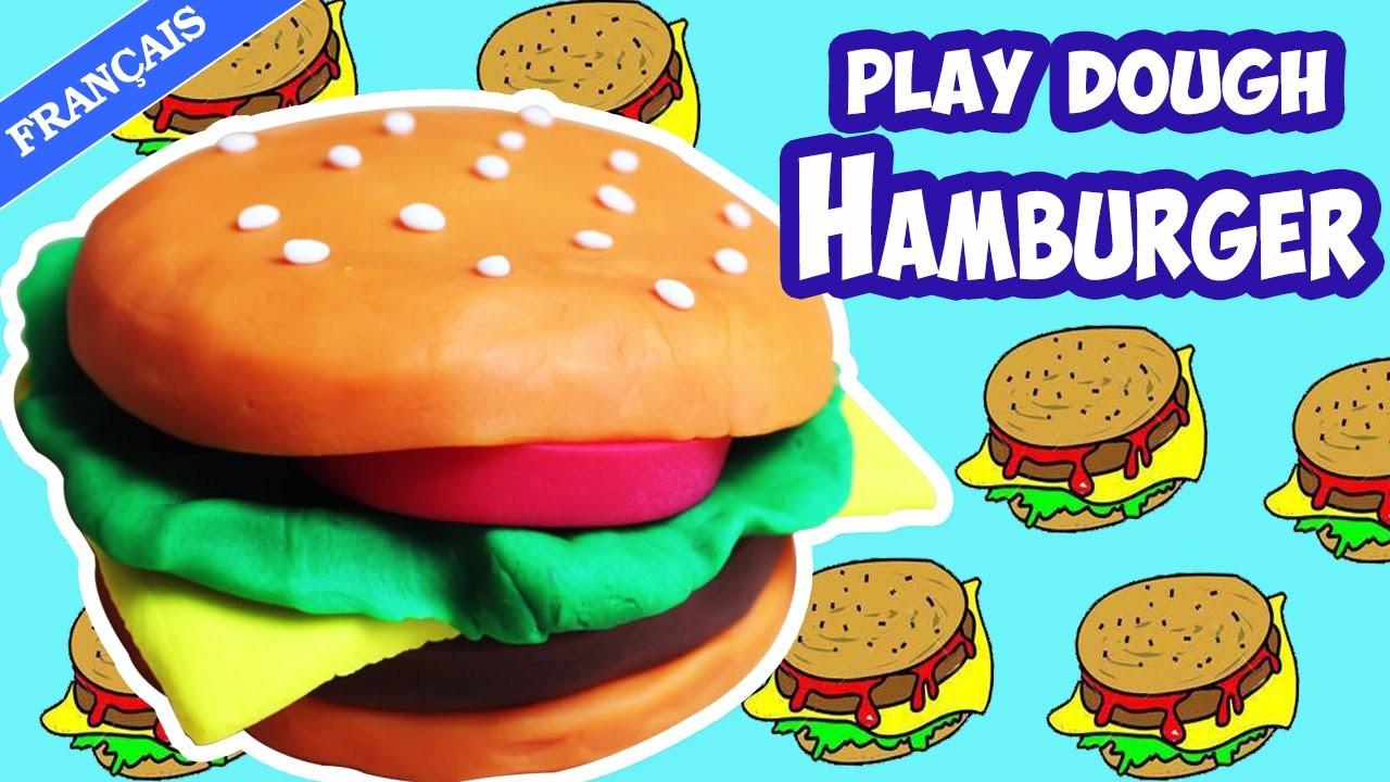 Comment Faire Hamburger en pâte à modeler en français | How to Make a Playdoh Burger | DIY